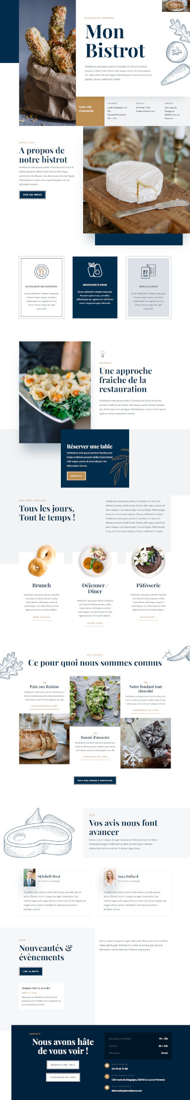site bistrot restaurant bouchon par totum orbem creation de site internet