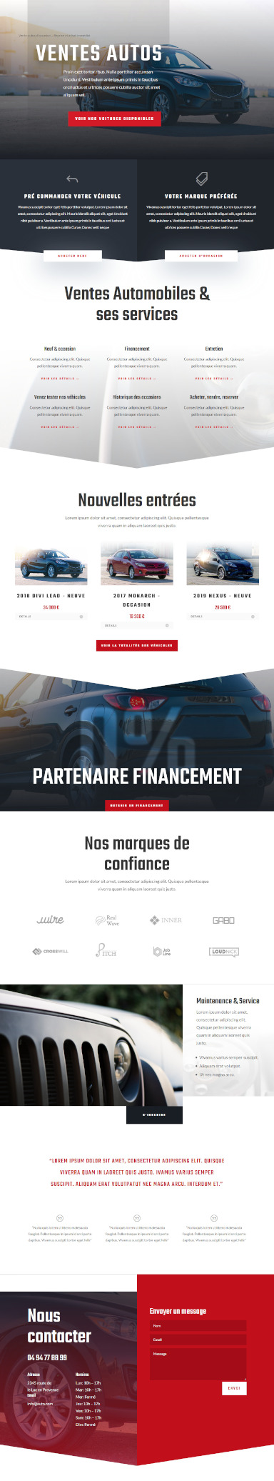 site vente auto par totum orbem creation de site internet
