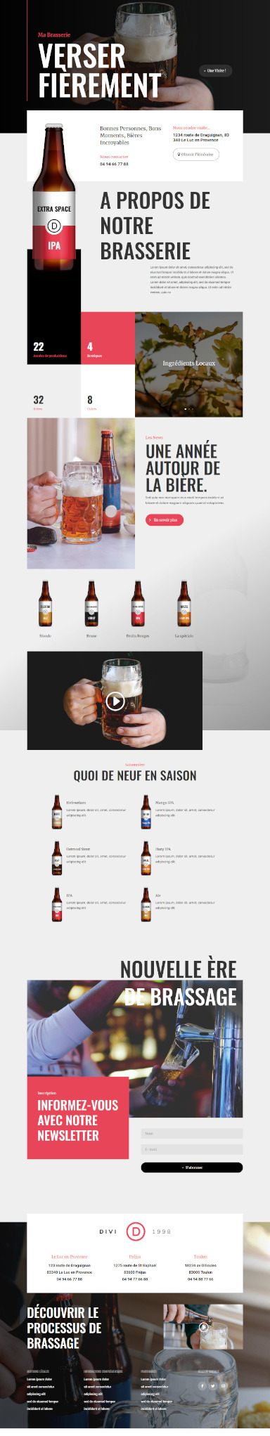 site de brasserie par totum orbem creation de site internet