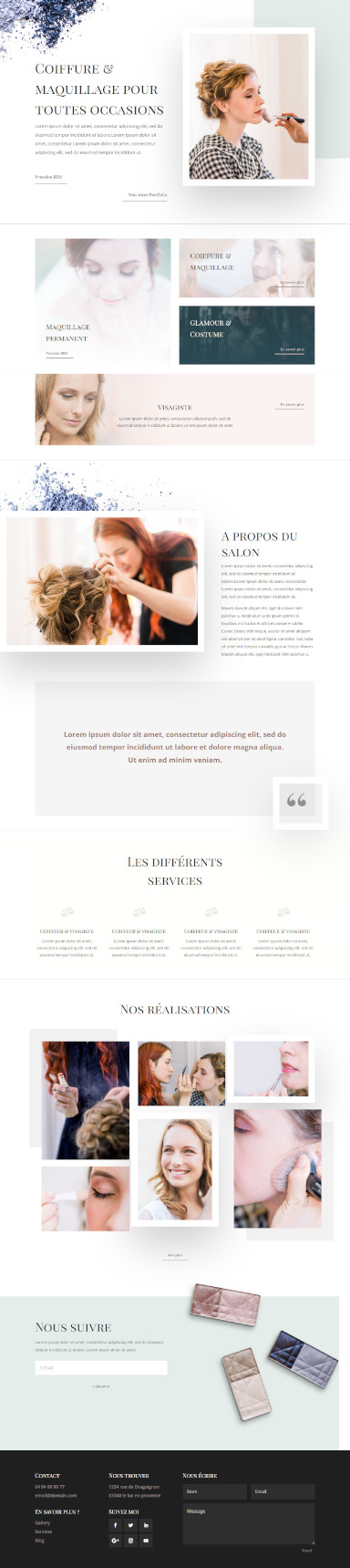 site coiffeur visagiste par totum orbem creation de site internet