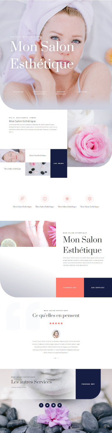 site de salon esthetique par totum orbem creation de site internet