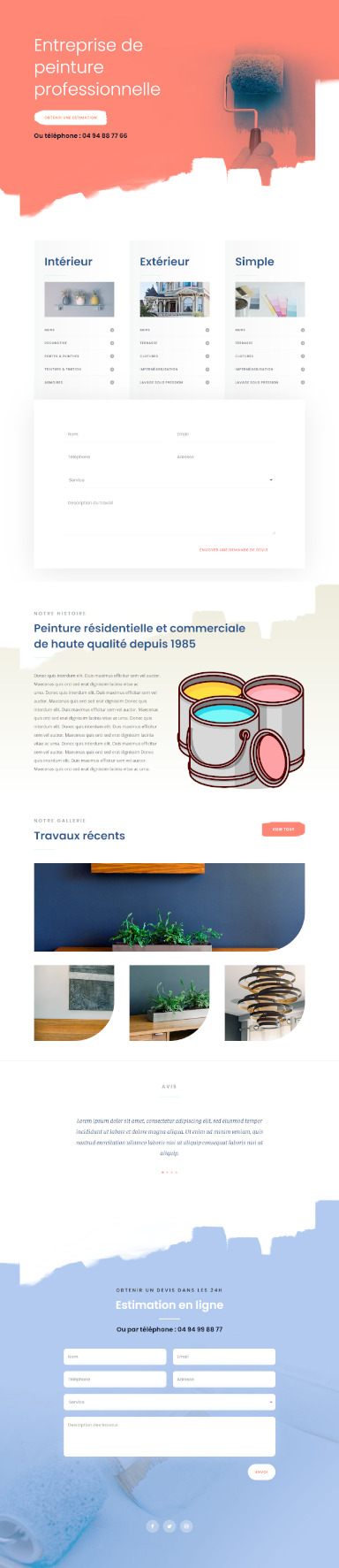 site de peintre par totum orbem creation de site internet