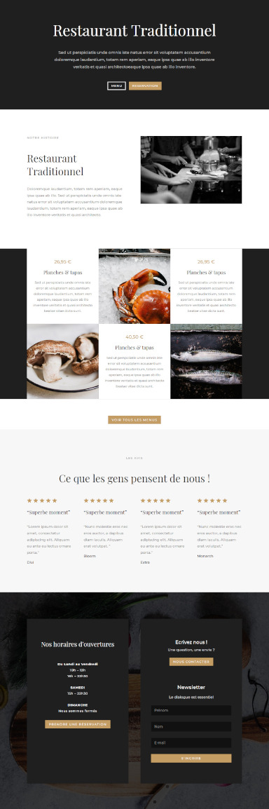 site de restaurant par totum orbem creation de site internet